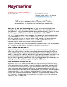 FLIR lancerer næste generation af Raymarine VHF-radioer