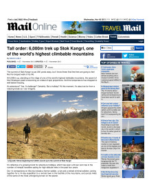 Tall Order: 6000m trek up Stok Kangri