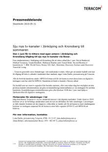 Sju nya tv-kanaler i Jönköping och Kronoberg till sommaren