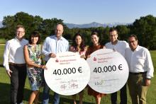 80.000 Euro für kranke Kinder und Senioren! Benefiz-Golfturnier der Stadtsparkasse München wieder ein voller Erfolg