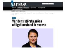 Världens största gröna obligationsfond är svensk