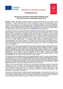 Europakommissionen og Europa Nostras officielle pressemeddelelse om at de har afsløret i vinderne af EU's Kulturarvspris / Europa Nostra-prisen 2016