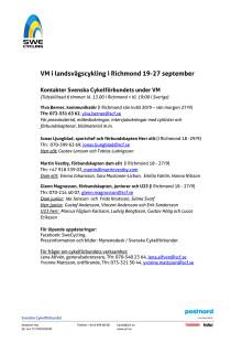 VM landsväg i Richmond 2015 - presskontakter