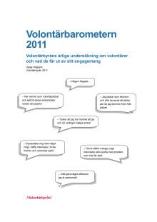 Volontärbarometern 2011