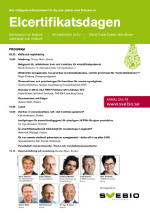 Program Elcertifikatsdagen 25 september 2012