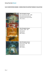List of Works - Olav Christopher Jenssen – Works from the Astrup Fearnely Collection