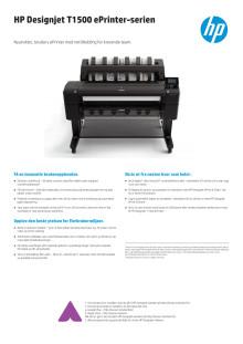 HP Designjet T1500 ePrinter-serien dataark