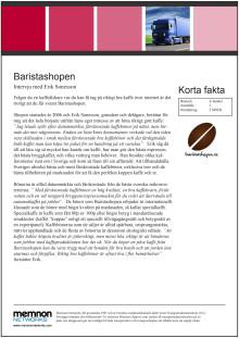 Intervju Baristashopen