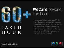 Clarion Hotel Stockholm markerar Earth Hour