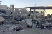 Satellitbilder från BBC visar förstörelse i östra  Ghouta