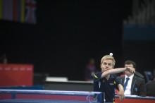 Fem bordtennisspelare med sikte på minst tre medaljer i VM