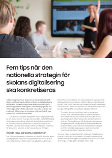 Fem tips när den nationella strategin för skolans digitalisering ska konkretiseras