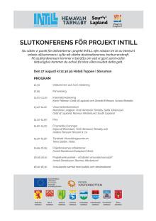 Inbjudan till slutkonferens INTILL