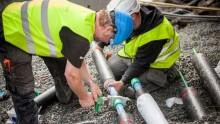 Nya smarta nya vattenledningar för dricksvatten och varmvatten
