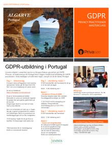 GDPR-utbildning Algarve