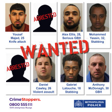 WANTED. Help keep London safe. Do you know these people?