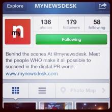 Mynewsdesk implementerer Instagram