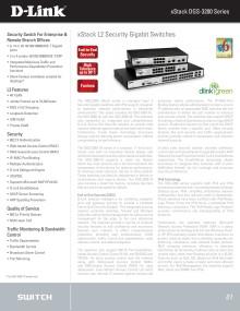 Faktablad - D-Link DGS-3200-24