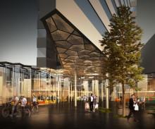 Grunnsteinen er lagt på det nye Clarion hotellet i Tromsø
