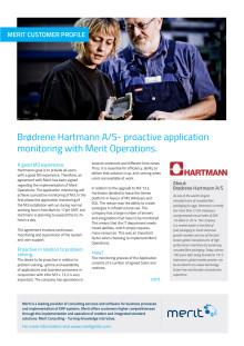 Brødrene Hartmann A/S- proactive application monitoring with Merit Operations.