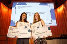 Grattis Ellen Walleij och Emilia Nyhage till utmärkelsen Bästa examensarbete inom Fastighetsrätt 2016  - Attefallshus & fastighetsbildning