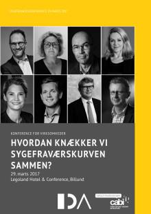 Invitation: Sygefraværskonference 29. marts