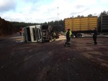 Lastbilsolycka på Kraftvärmeverket Moskogen