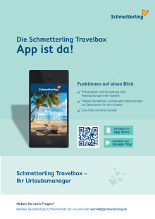 Schmetterling App Flyer