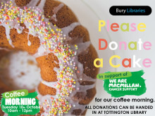 Macmillan coffee morning at Tottington Library