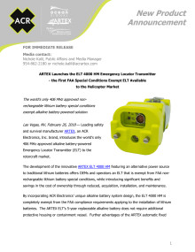ARTEX Launches the ELT 4000 HM Emergency Locator Transmitter - the First FAA Special Conditions Exempt ELT Available  to the Helicopter Market