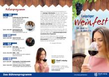 Flyer des Leipziger Weinfests 2016
