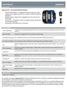 Datenblatt Garmin Approach X10