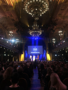 Maryse Condé tog emot Den Nya Akademiens litteraturpris på 320 000 kronor i Stockholm