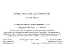 Informationslunch Svenska ambassaden i Köpenhamn