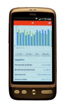 Håll koll på energiförbrukning och fakturor i Mälarenergis app för iPhone och Android