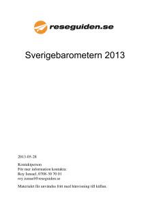 Reseguidens Sverigebarometer 2013 - hela sommarstadslistan