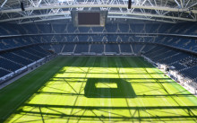 Landslaget och AIK värmer upp under publik träningsdag på Friends Arena