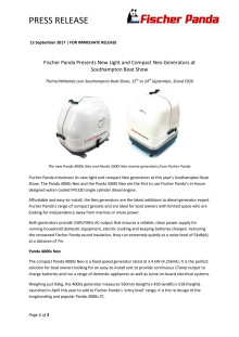Fischer Panda Presents New Light and Compact Neo Generators at Southampton Boat Show