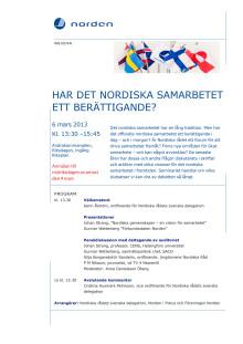 Inbjudan till seminarium 6 mars