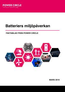 Batteriers miljöpåverkan - faktablad från Power Circle