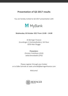 MyBank Q3 2017 presentation