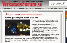 Verkstadsforum.se skriver om IoT Lund