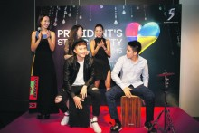 ROCK THE CAJONS AT PRESIDENT STAR CHARITY 2015