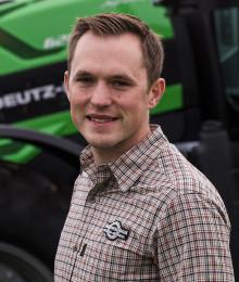 Magnus Premberg säljer Deutz-Fahr i Skåne-Blekinge