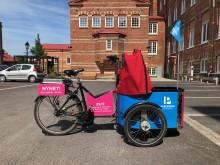 Pressinbjudan: Välkommen till invigning av Göteborgs första lådcykelpool