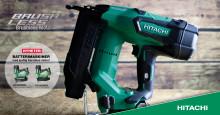 NYHET! Hitachi 18V batteridrevne spikerpistoler