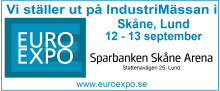 EURO EXPO Industrimässan i Lund 12- 13 September