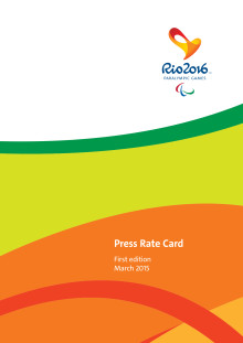 Rio 2016 - Paralympic Games Press Rate Card Catalogue