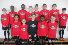 Wallington school's footballers sport Southern logo