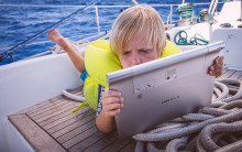 Digital school in a sailboat